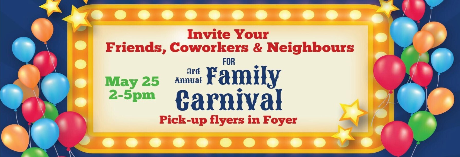 Invite Your Friends to Carnival 2019 Banner